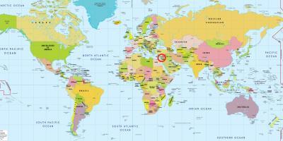 izrael mapa sveta Mapa světa Jeruzalém   Jeruzalém v mapě světa (Izrael) izrael mapa sveta